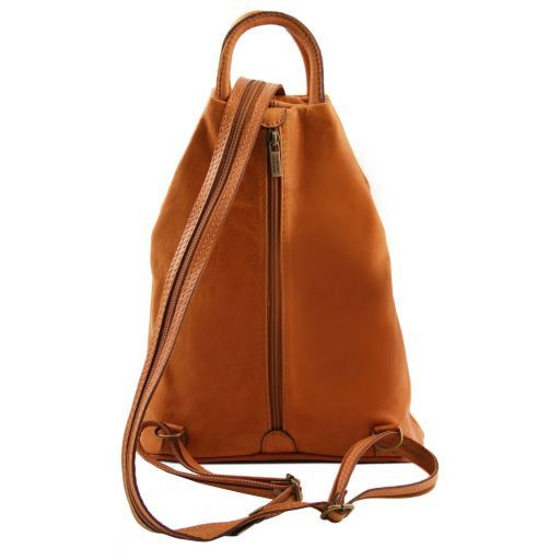 Shanghai Leather backpack Cognac TL140963