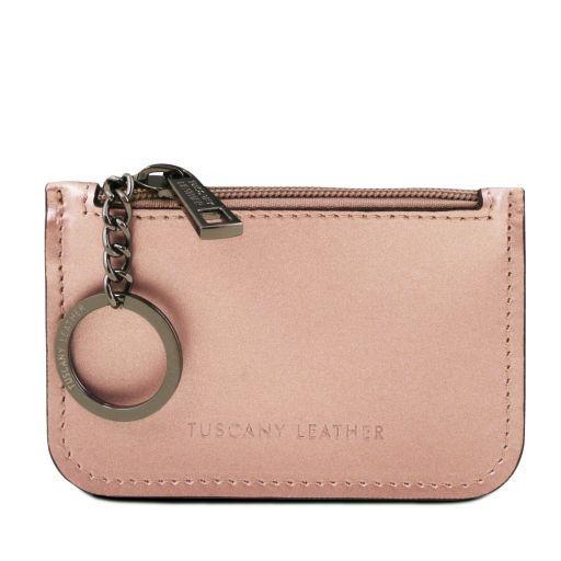 Schlüsselanhänger aus Leder Rosa TL141677
