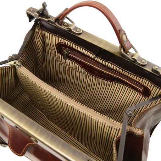 Monalisa Maulbügel - Arzttasche aus Leder Schwarz TL10034