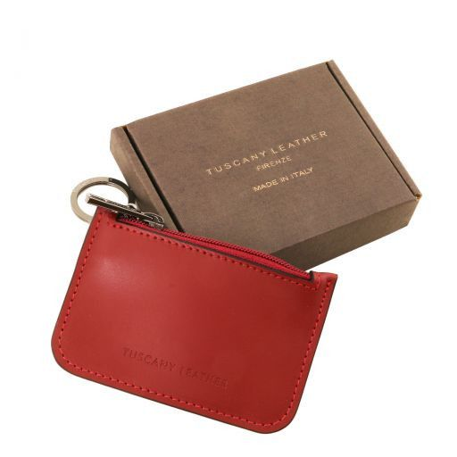 Leather key holder Темно-синий TL141671
