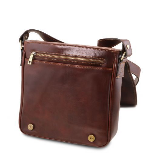 TL Messenger One compartment leather shoulder bag Red TL141260