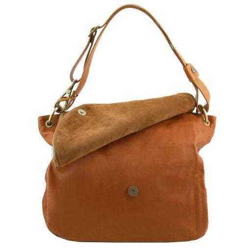 TL Bag Soft leather shoulder bag with tassel detail Dark Blue TL141110