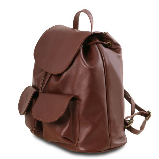 Seoul Leather backpack Small size Red TL141508