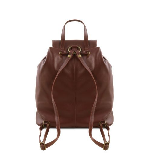 Seoul Leather backpack Small size Cognac TL141508