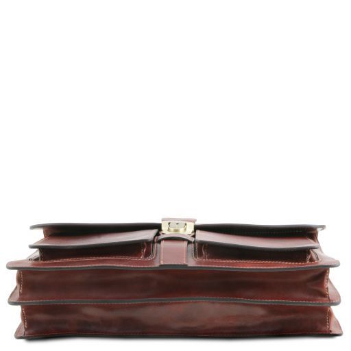 Assisi Cartella in pelle 3 scomparti Testa di Moro TL141825