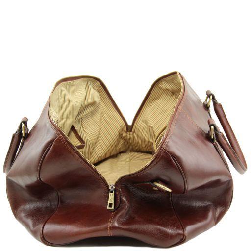 TL Voyager Дорожная кожаная сумка-даффл - Большой размер Коричневый TL141794