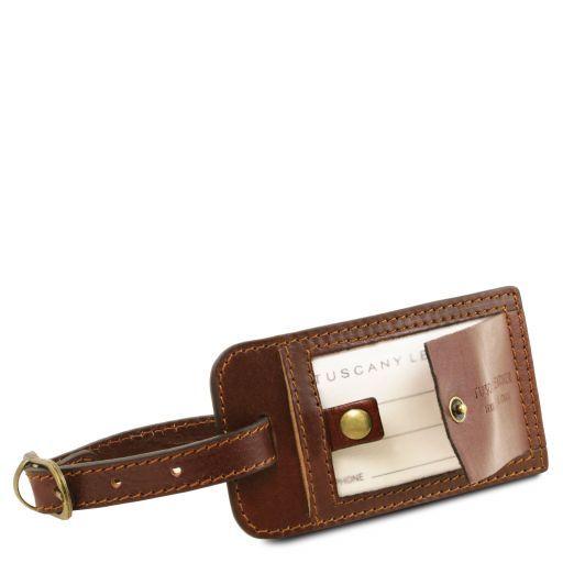 TL Voyager Reisetasche aus Leder mit Fach auf der Rückseite - Klein Dunkelbraun TL141250