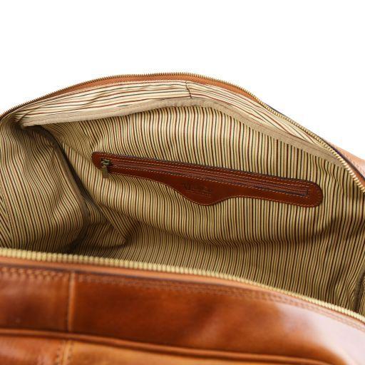 TL Voyager Maleta en piel con bolsillo delantero Marrón TL141401