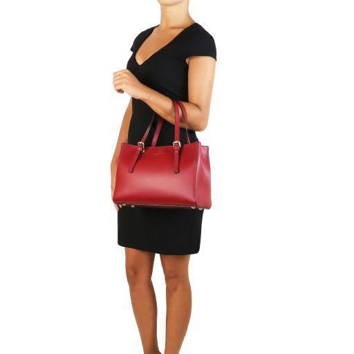 Aura Leather handbag Black TL141434