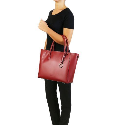 Aria Borsa shopping in pelle Nero TL141823
