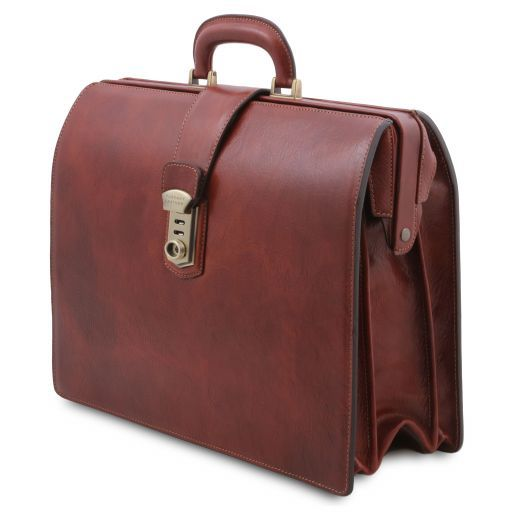 Canova Leather Doctor bag briefcase 3 compartments Dark Brown TL141826