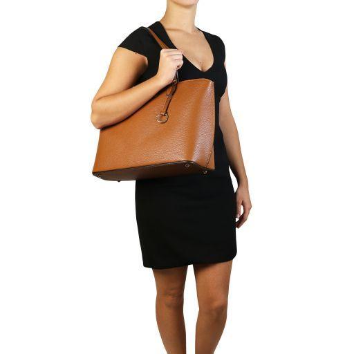 TL Bag Leather shopping bag Красный TL141828
