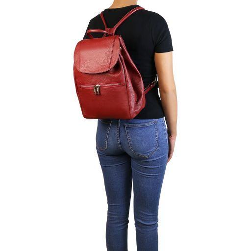 TL Bag Soft leather backpack for women Красный TL141697