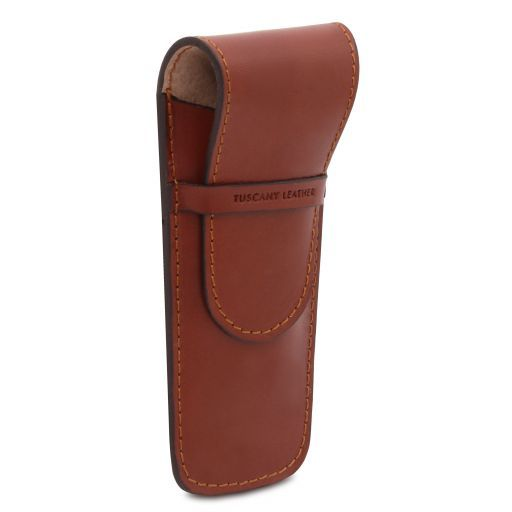 Elegante porta penne 2 posti/porta orologio in pelle Testa di Moro TL141273