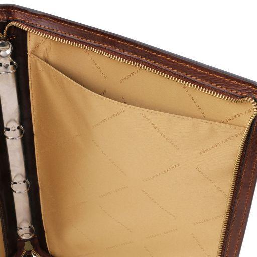 Costanzo Portadocumentos elegante en piel Rojo TL141295