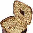 Eliot Leather toilet bag Brown TL142045