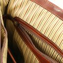 Alessandria Leather multi compartment TL SMART laptop briefcase Brown TL142067