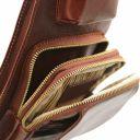 Brusttasche aus Leder Braun TL141352