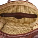 TL Voyager Leather travel bag with front straps - Large size Dark Brown TL141248