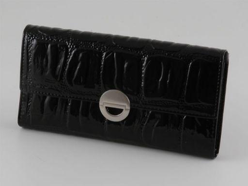 Esclusivo portafogli da donna in pelle Nero TL140604