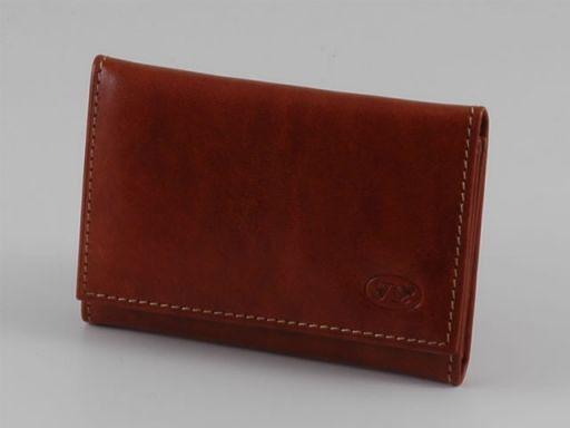 Esclusivo portacarte di credito in pelle Marrone TL140611