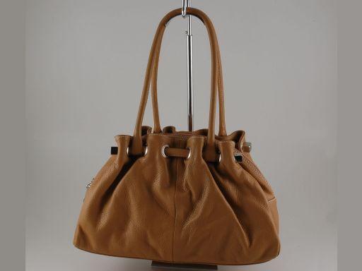 Raffaella Lady leather bag Cognac TL140636