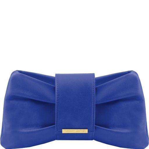 Priscilla Clutch leather handbag Blue TL140716