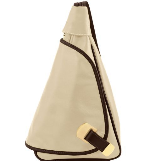 Hanoi Leather backpack Beige TL141622