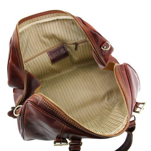 Berlin Travel leather duffle bag - Small size Brown TL1014