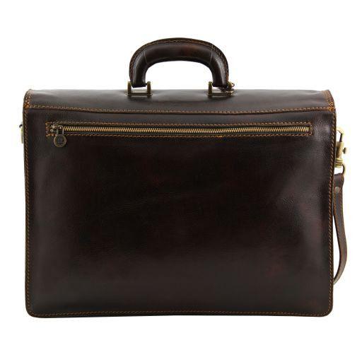 Roma Кожаный портфель на 3 отделения Коричневый TL10026