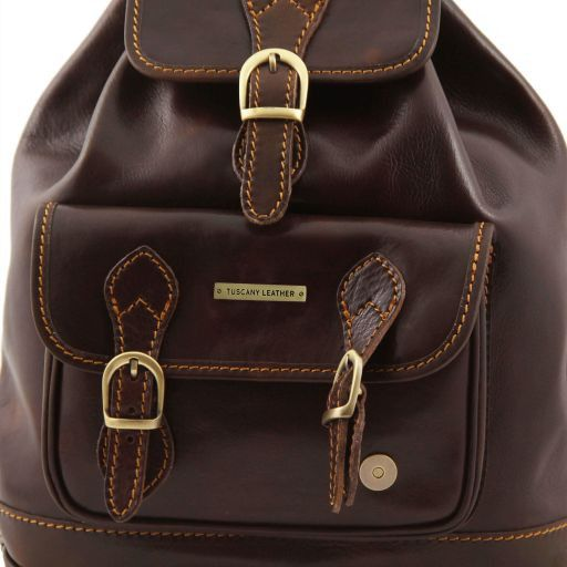 Singapore Sac à dos en cuir Marron TL9039