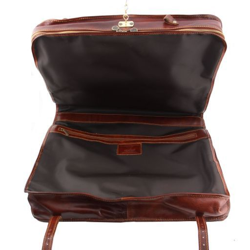 Bali Porta trajes en piel Marrón TL30179