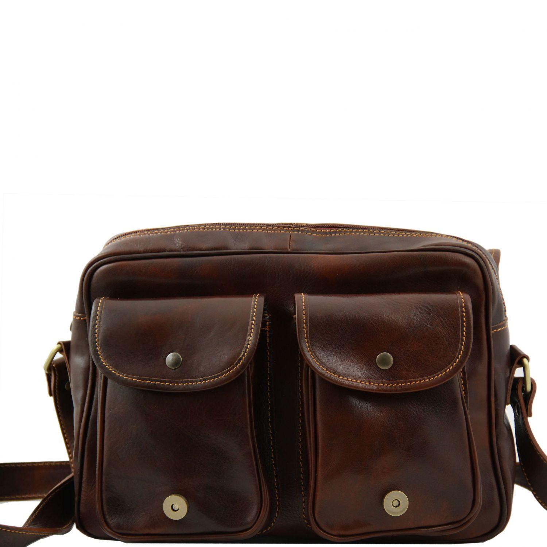Tuscany Leather - San Marino - Sac de voyage en cuir avec poches frontales Noir - TL10180/2 bvsLMjl