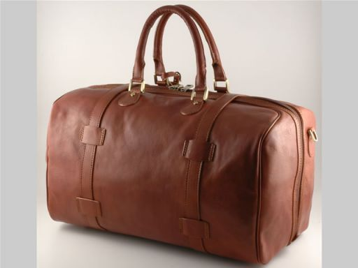 Monaco Travel leather bag - Large size Brown TL140437