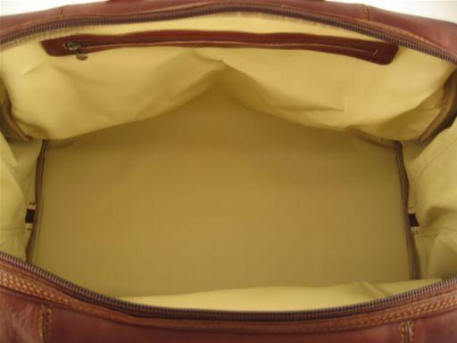 Monaco Borsa da viaggio in pelle - Misura piccola Marrone TL140438