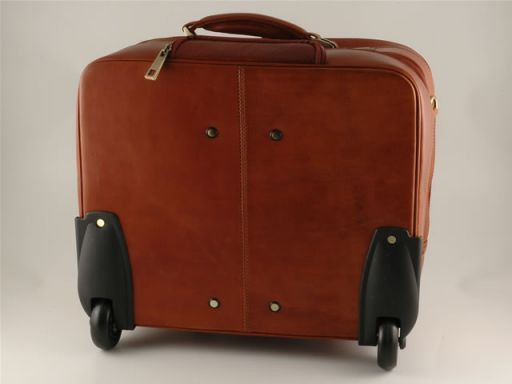 Las Vegas Esclusivo trolley porta notebook Marrone FC140501