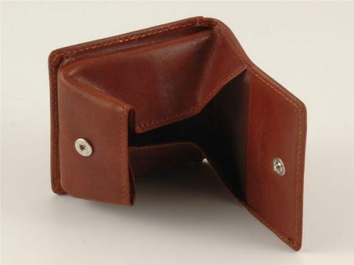Esclusivo portamonete in pelle Rosso TL140506