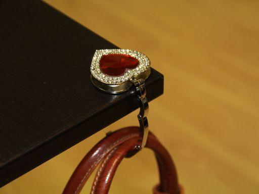 Portaborse da tavolo Cuore Rosso TL140588