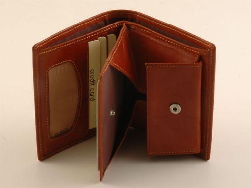 Esclusivo portafogli da uomo in pelle Verde TL140612