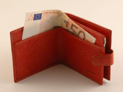 Esclusivo portafogli da uomo in pelle Marrone TL140628