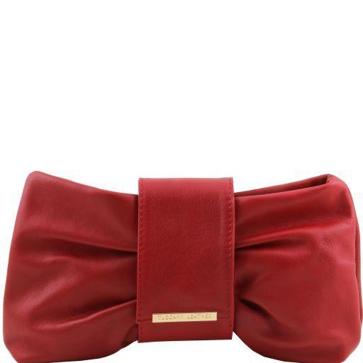 Priscilla Кожаный клатч Dark red TL140716