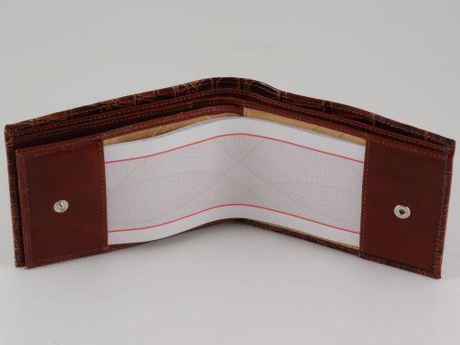 Esclusivo portafoglio uomo in pelle stampa cocco Nero TL140759