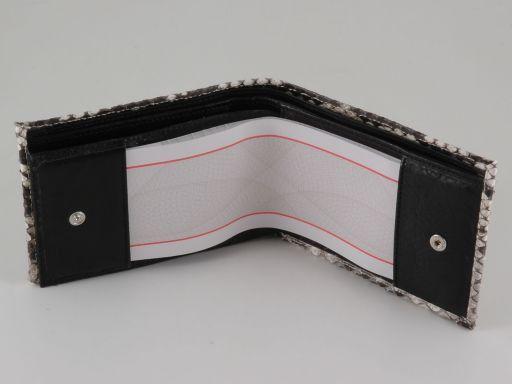 Esclusivo portafoglio uomo in vero pitone Nero TL140772