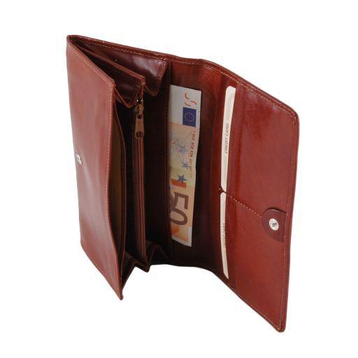 Exklusive Damenbrieftasche aus Leder Schwarz TL140787