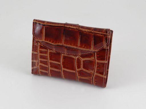 Esclusivo portafogli in pelle stampa cocco da donna Nero TL140789