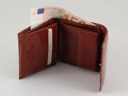 Esclusivo portafogli in pelle stampa cocco da donna Marrone TL140793