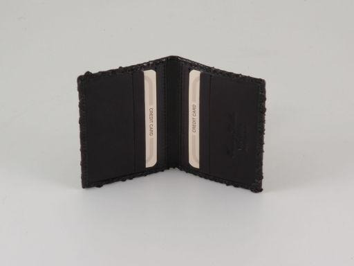 Esclusivo portacarte di credito in vero pitone Nero TL140803