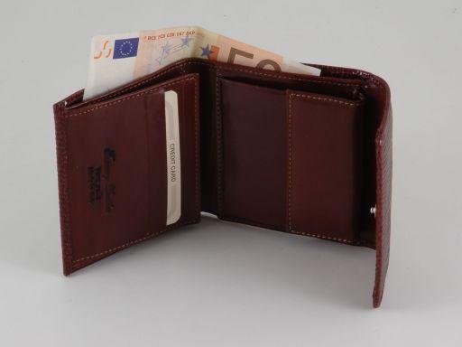 Esclusivo portafoglio donna in lucertola Rosso TL140809