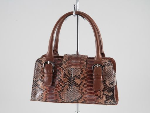 Brenda Real python lady bag Brown TL140836