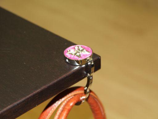 Portaborse da tavolo smaltato Farfalla Bianco TL140875